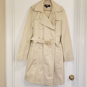 CoffeeShop Khaki Belted Trench Coat